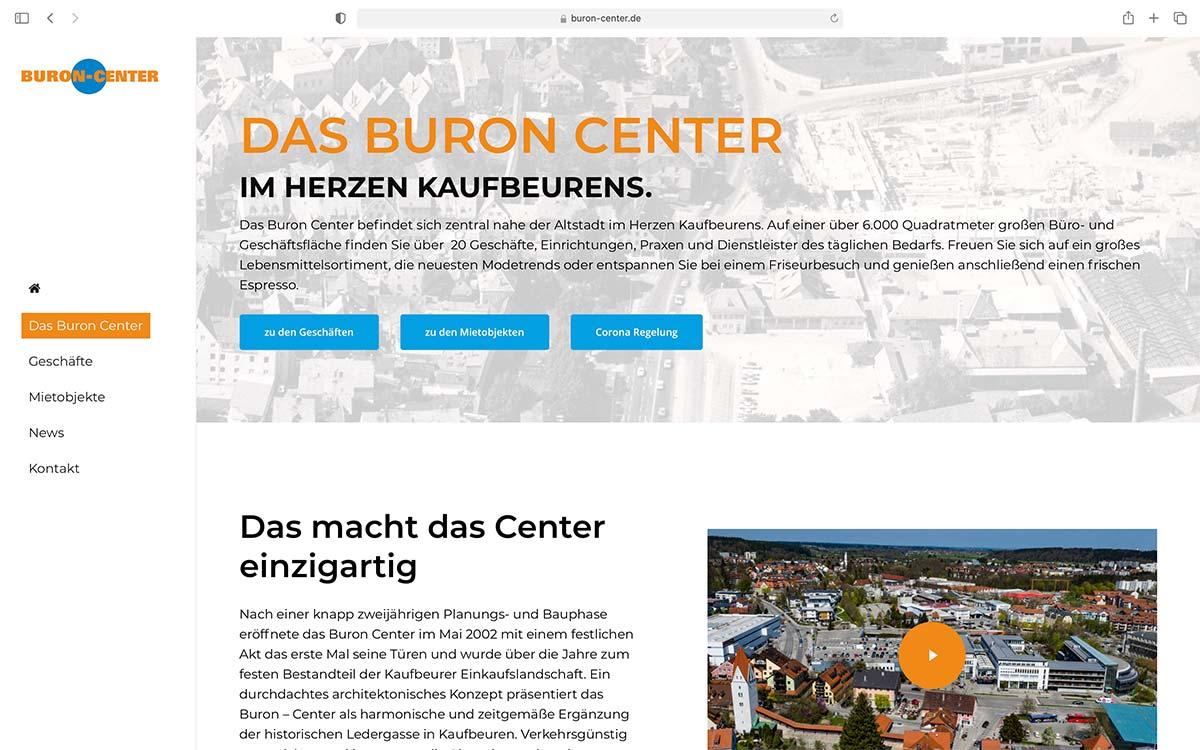 Webdesign Buron Center | Jess Creation