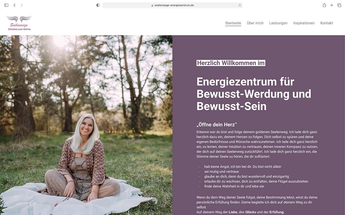 Webdesign Seelenwege Christine Link | Jess Creation
