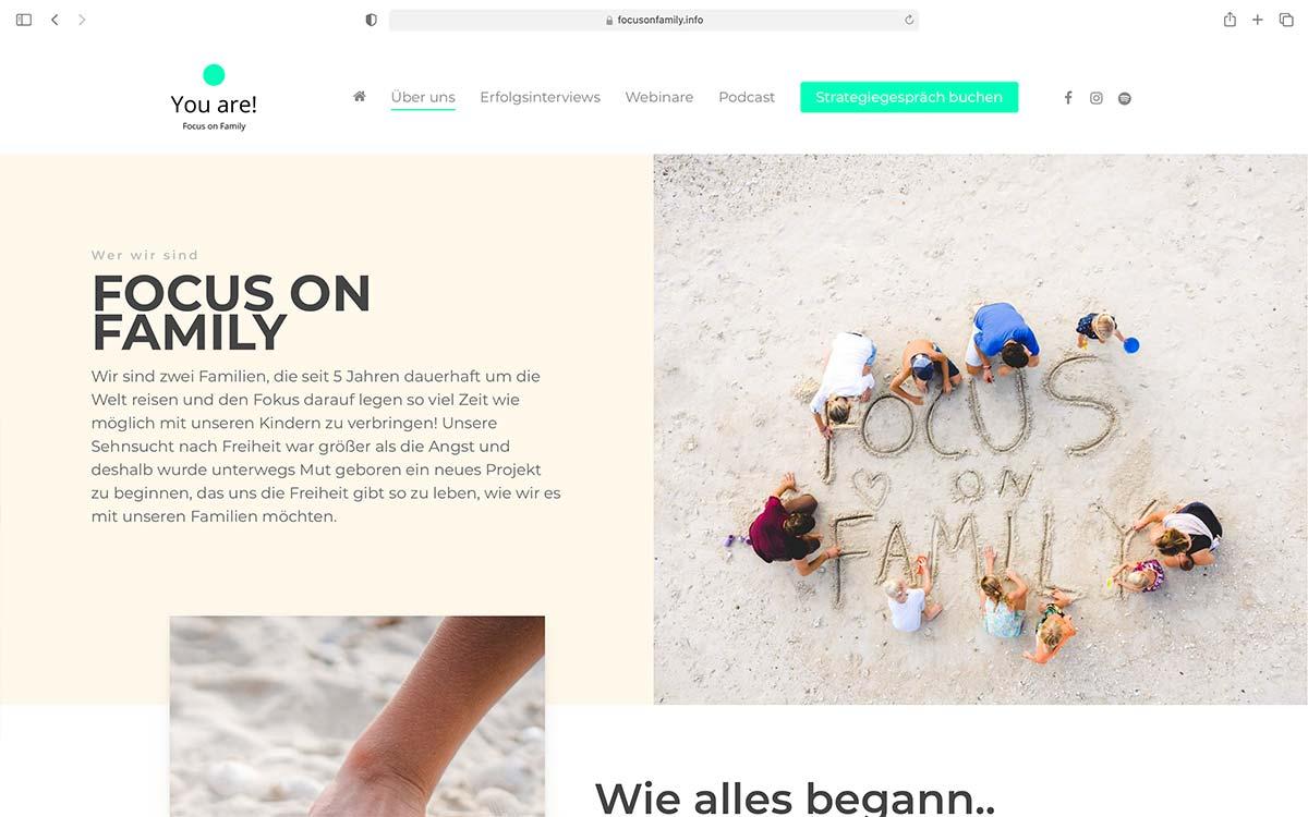 Webdesign Focus on Family