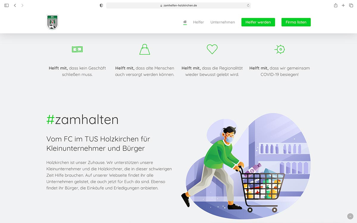 Webdesign zamhelfen Holzkirchen | Jess Creation