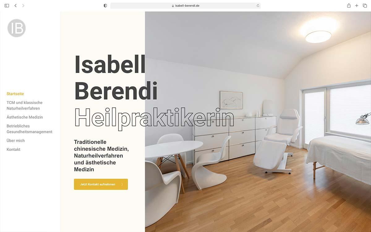 Webdesign Isabell Berendi Heilpraktikerin | Jess Creation
