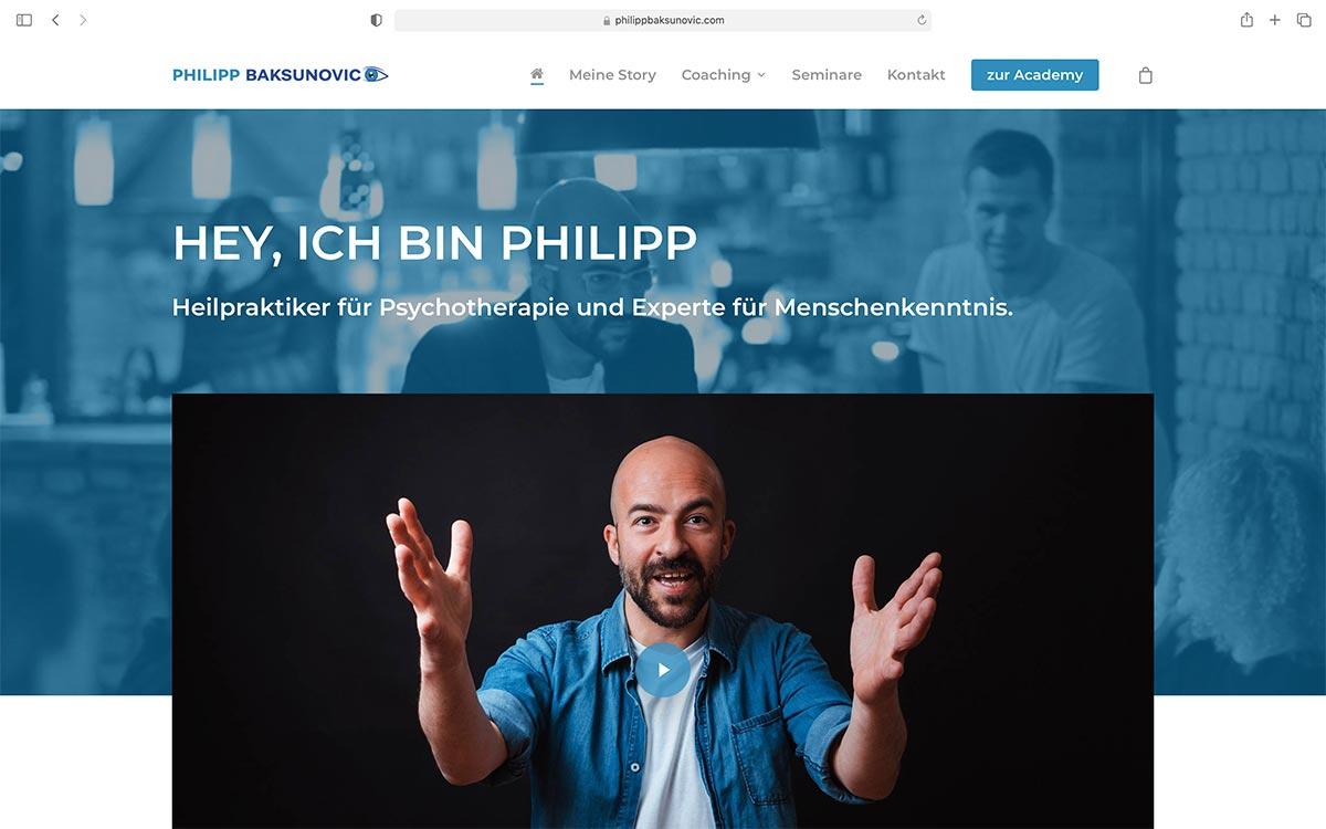 Webdesign Philipp Baksunovic | Jess Creation
