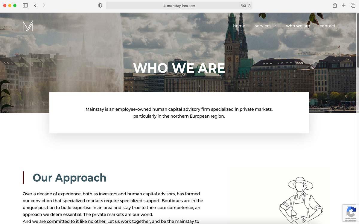Webdesign Mainstay Human Capital Advisory